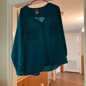 Anne Klein Teal blouse